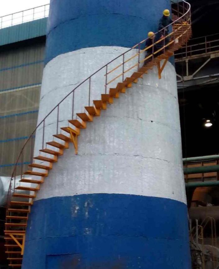 烟囱旋转梯制作安装