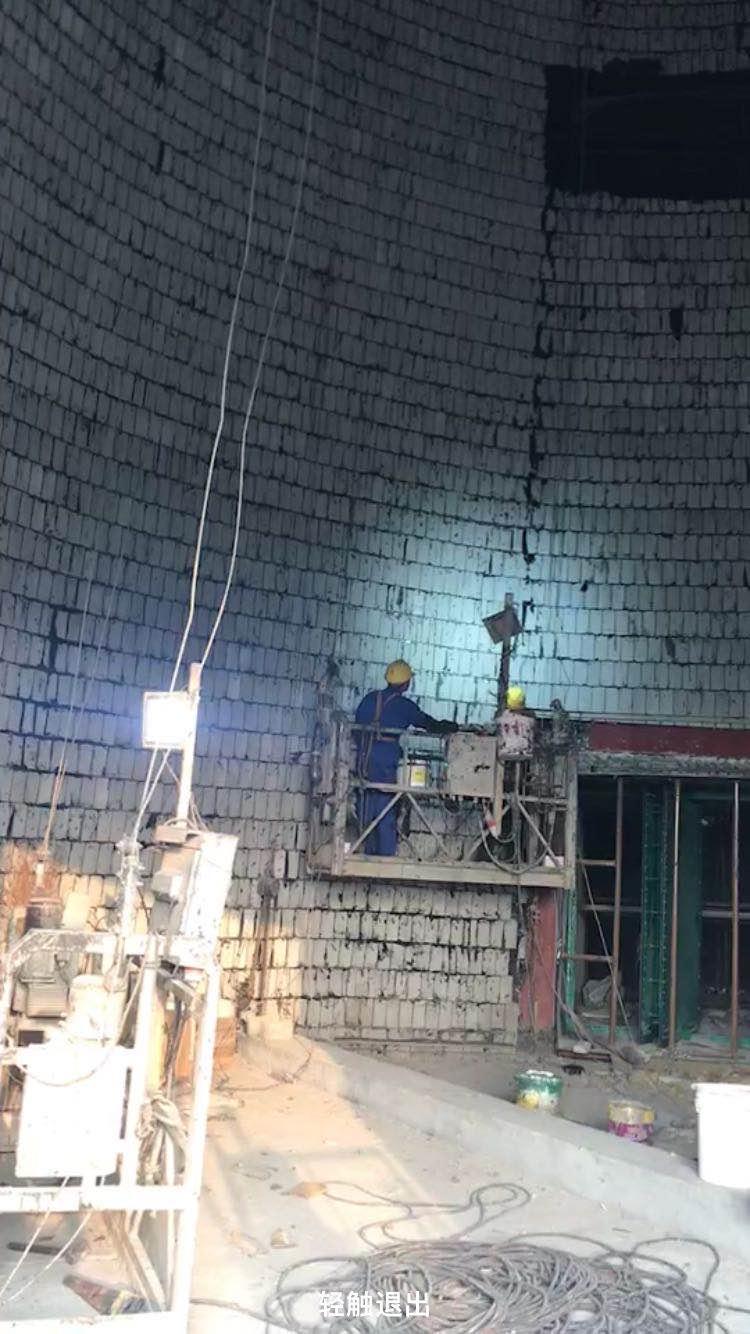 烟囱内壁防腐贴玻化砖