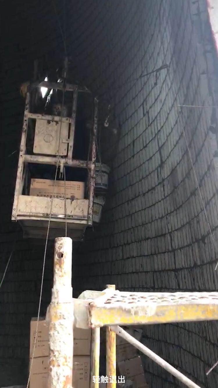 烟囱防腐内壁贴玻化砖